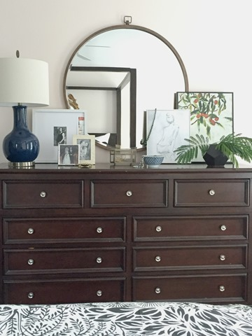 Styling our bedroom dresser emily a clark - How to decorate a dresser in bedroom ...