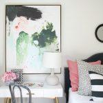 A Writing Desk + Big Abstract Art