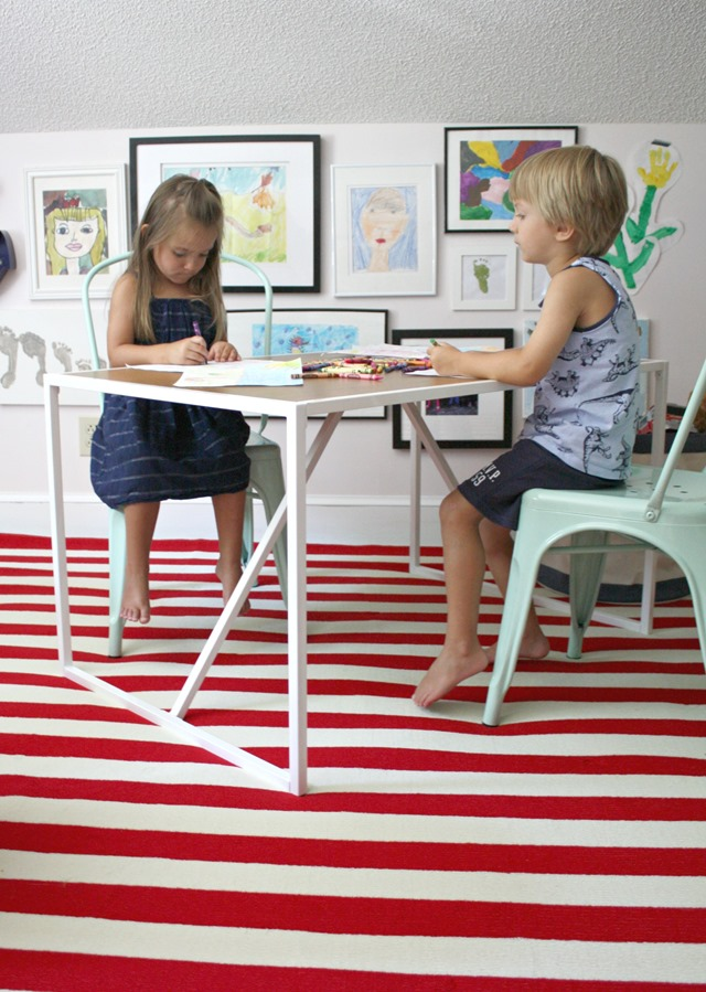 playroom table + chairs from Target Pillowfort collection