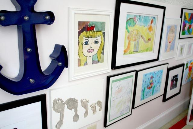 kids artwork framed