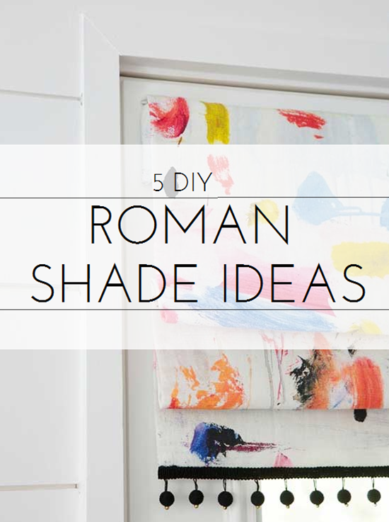 DIY roman shade ideas