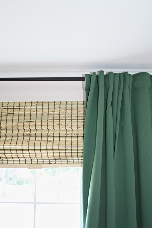 black and green curtains
