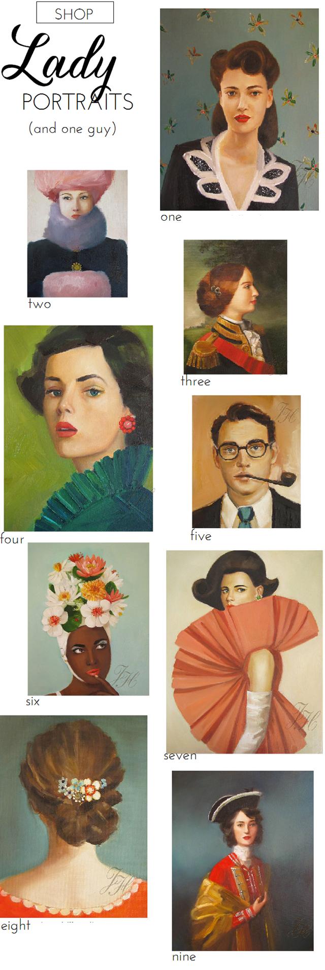 Lady Portraits by Janet Hill Studio