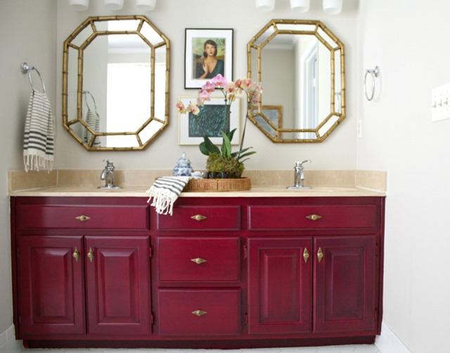 Painting Bathroom Cabinet painting our bathroom vanity with opi - emily a. clark
