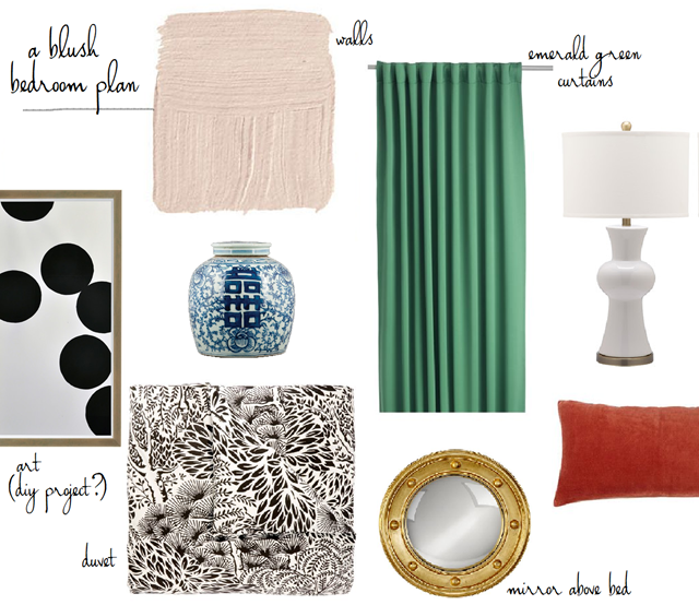 blush bedroom design plan