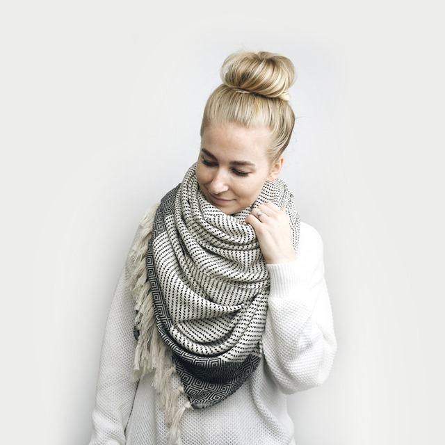 tassel scarf on Etsy