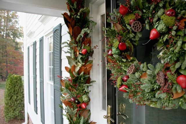 Outdoor spaces archives emily a clark for Colonial home christmas decorations