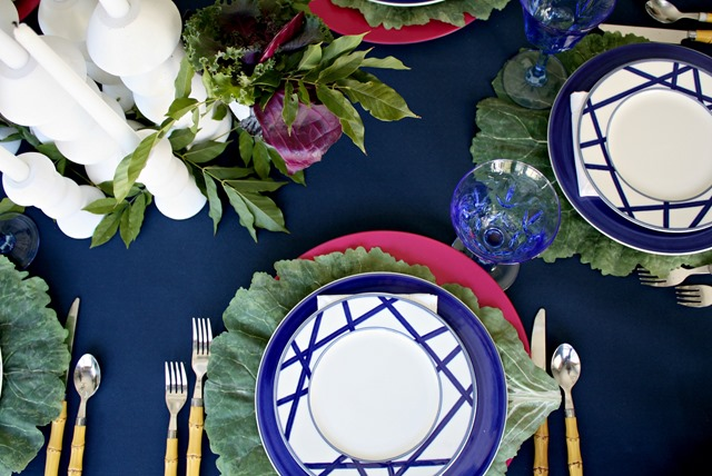 Jewel toned Fall tablescape