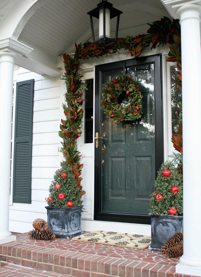 Colonial Christmas front door