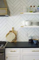 Details on Our Floating Kitchen Shelves