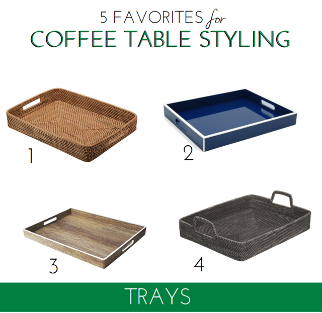 trays for coffee table styling