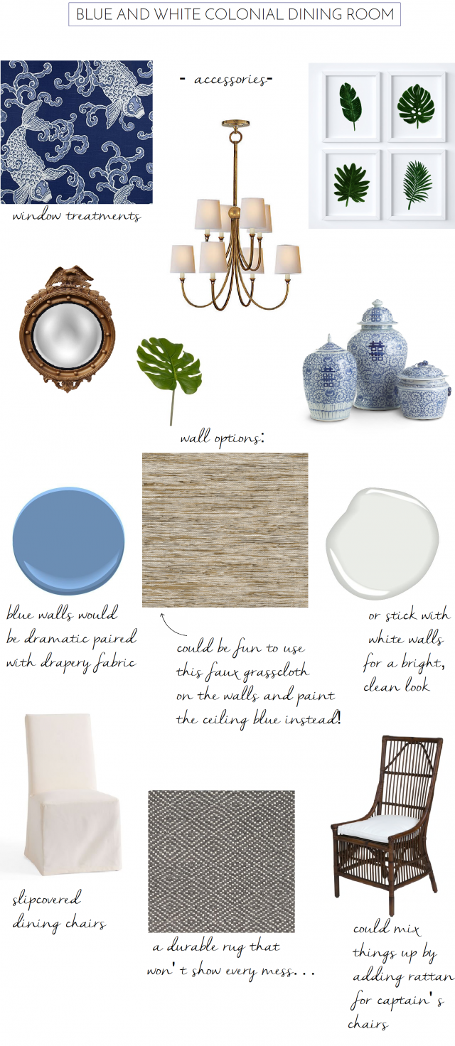 The Dining Room Design I Never Used Emily A Clark : blue white dining room accessories 2 e1498141689971 from emilyaclark.com size 640 x 1472 png 1009kB