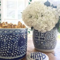 Blue and white Summer decorating