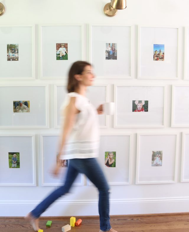 gallery wall frames kitchen