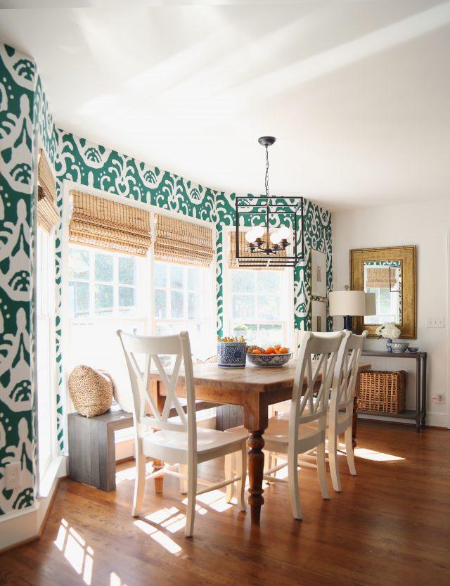 kitchen breakfast nook wallpaper