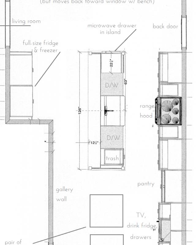 kitchen layout, renovation, floor plan