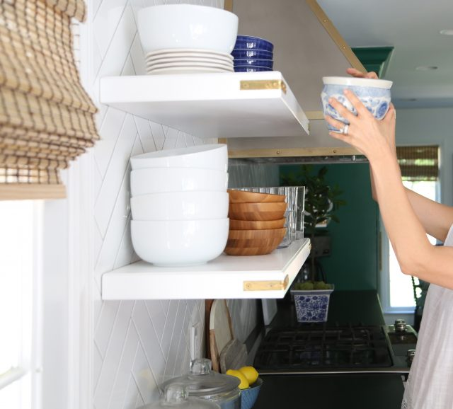 Open Kitchen Shelves With Brackets: Design. Simplified
