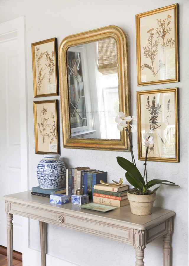 mirror-with-framed-botanicals-stacked