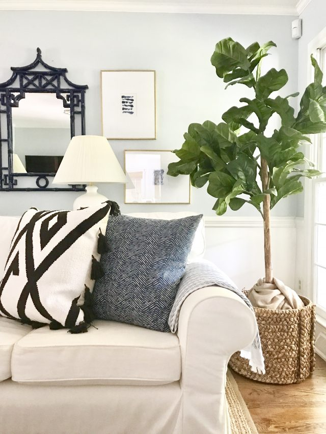 My Faux Fiddle Leaf Fig Tree