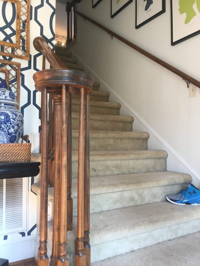 As Part Of Our Upstairs Renovation, We Had The Carpet Pulled Up And  Replaced With Wood Treads And An Antelope Stair Runner: