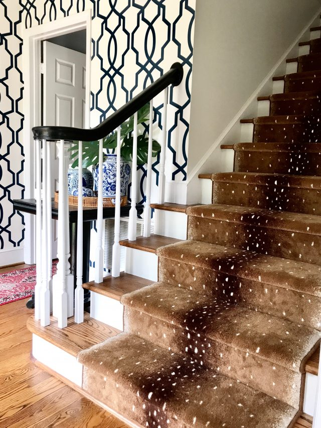 stairway makeover with antelope runner