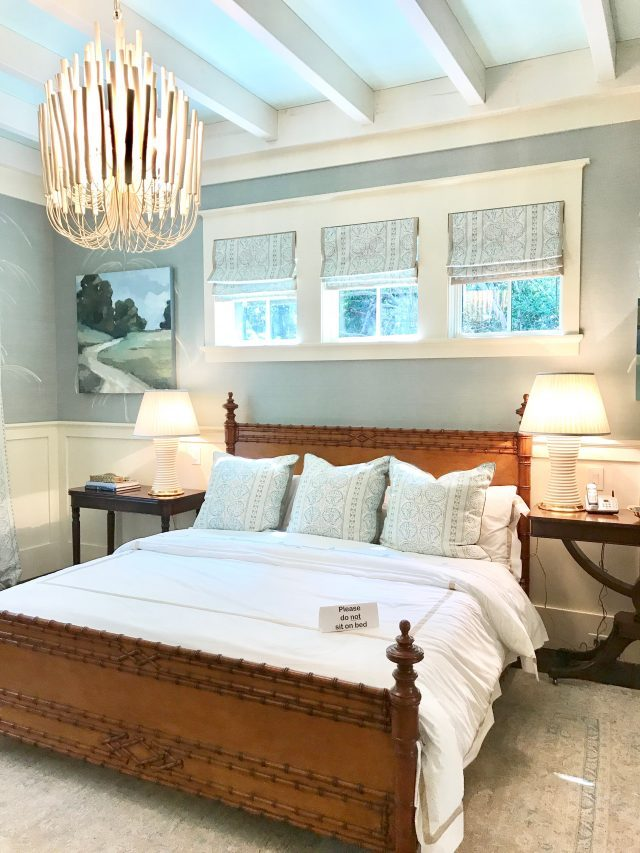 Southern living idea house master bedroom bamboo bed