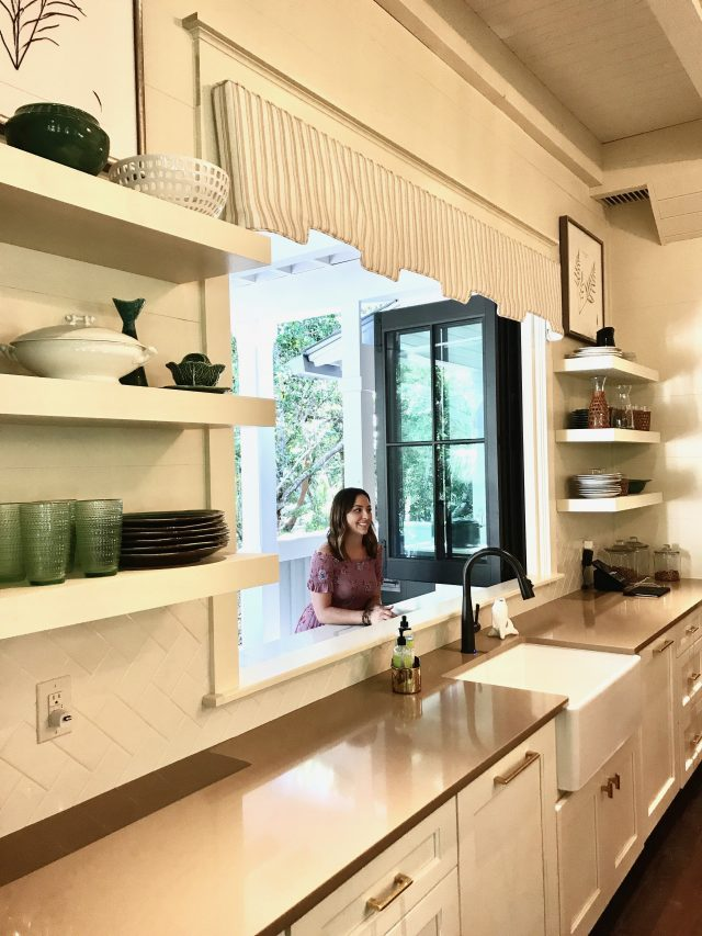 Painted Open Shelving In The Kitchen