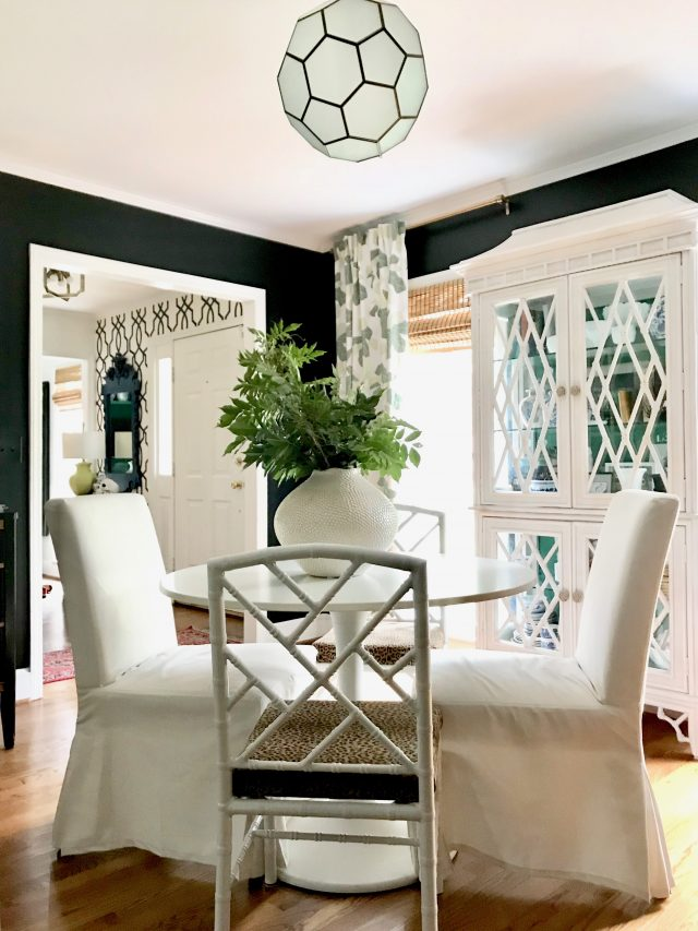 black paint color dining room
