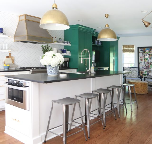 green-white-kitchen-black-granite