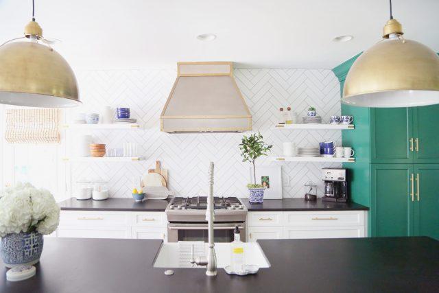 Honed Granite Subway Tile Kitchen
