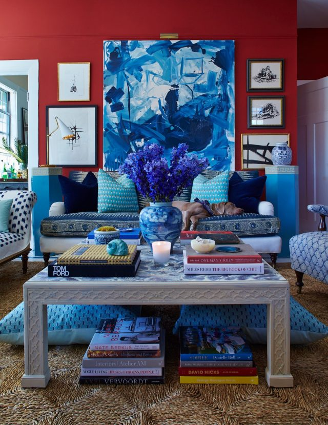 High End Design For Real Life Red Blue Living Room Emily A Clark
