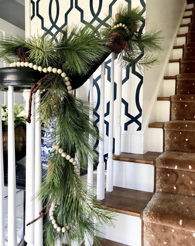 Christmas decor garland and beads
