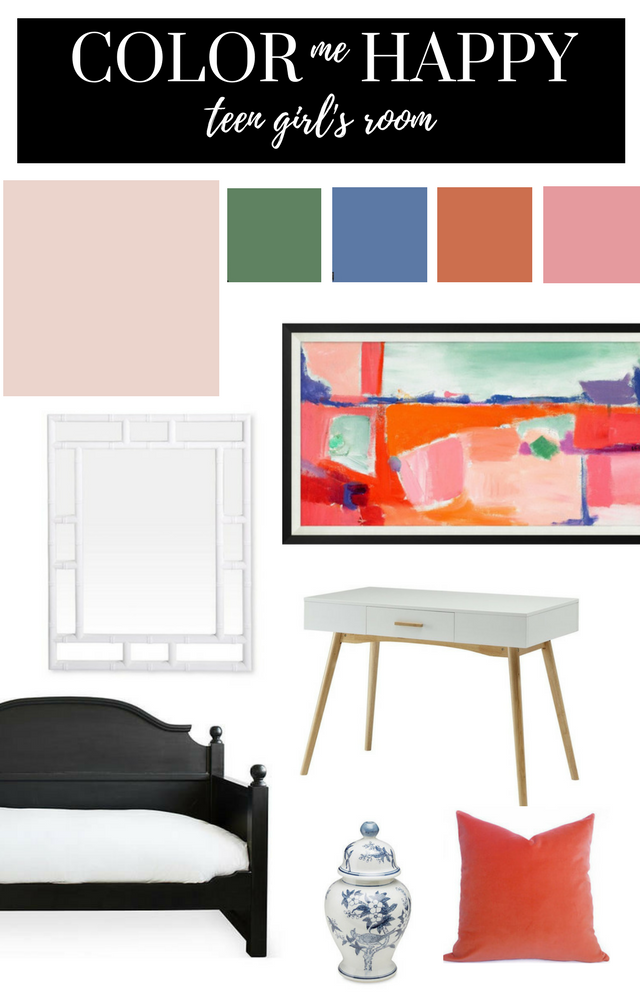 BEHR PAINT MOOD BOARD TEEN GIRLS ROOM