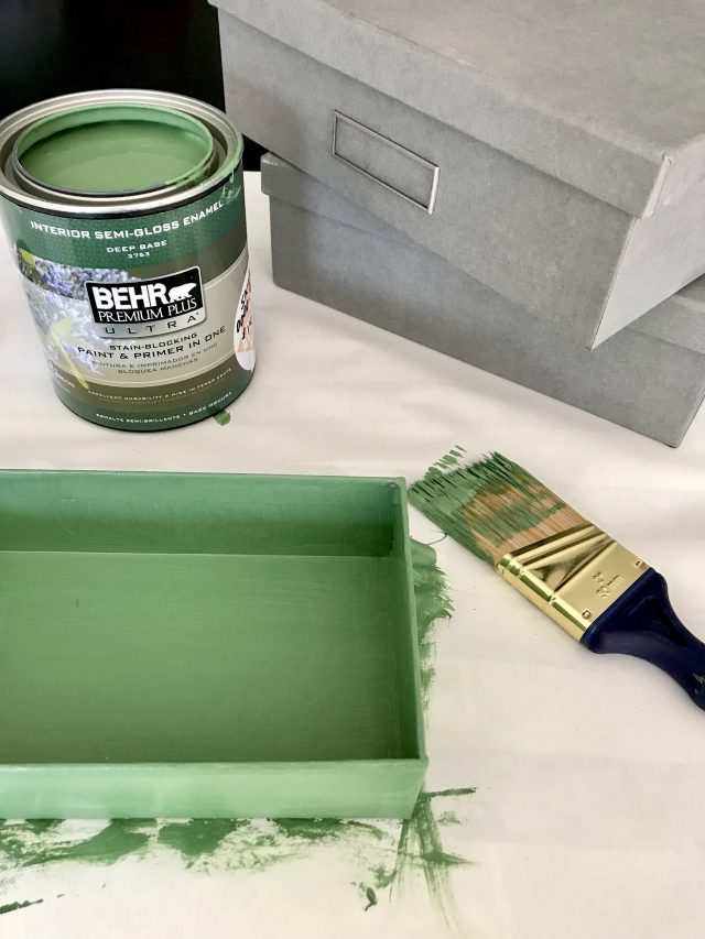 DIY PAINTED STORAGE BOXES