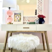 Pink Girl's Bedroom Vanity