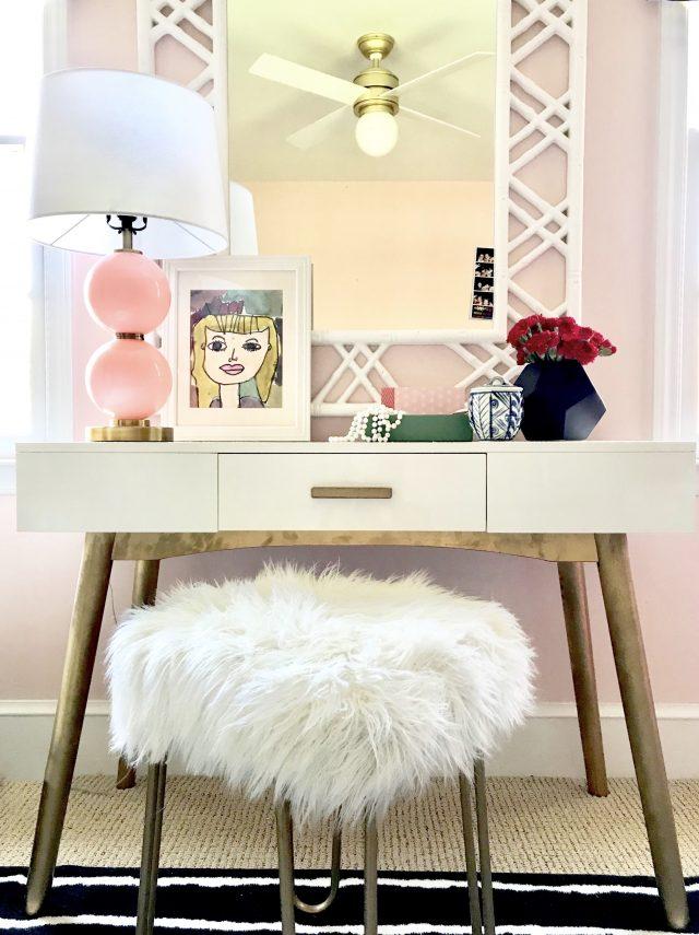 Pink Girl's Bedroom Vanity