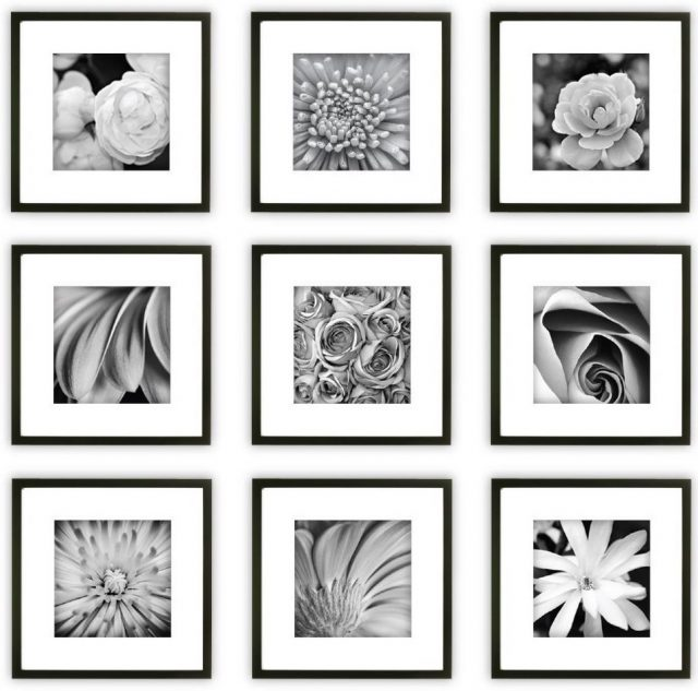 black gallery wall frame set