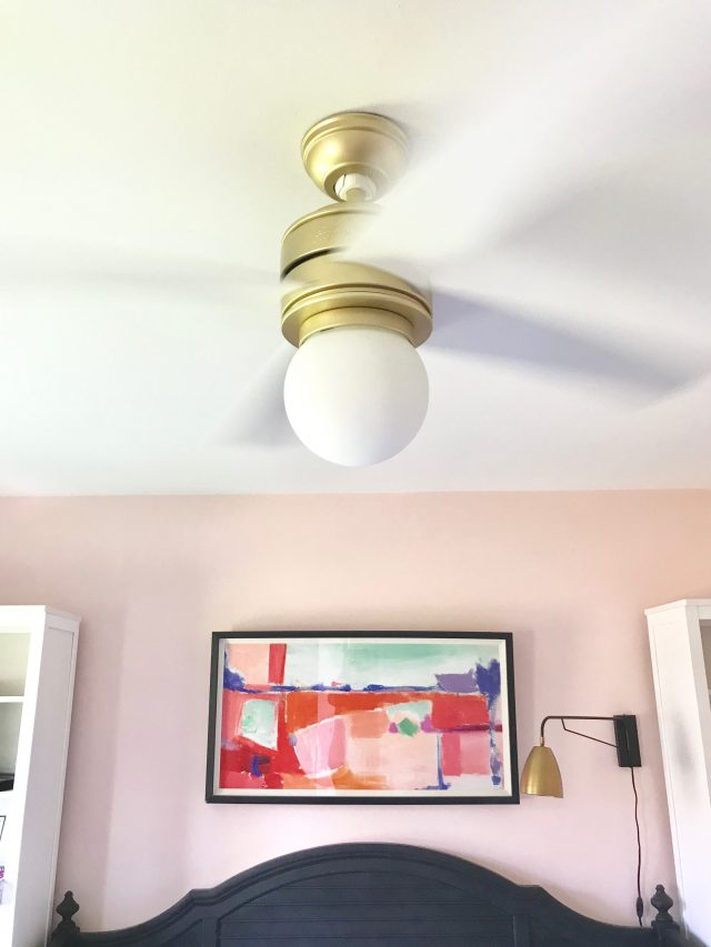 brass white ceiling fan