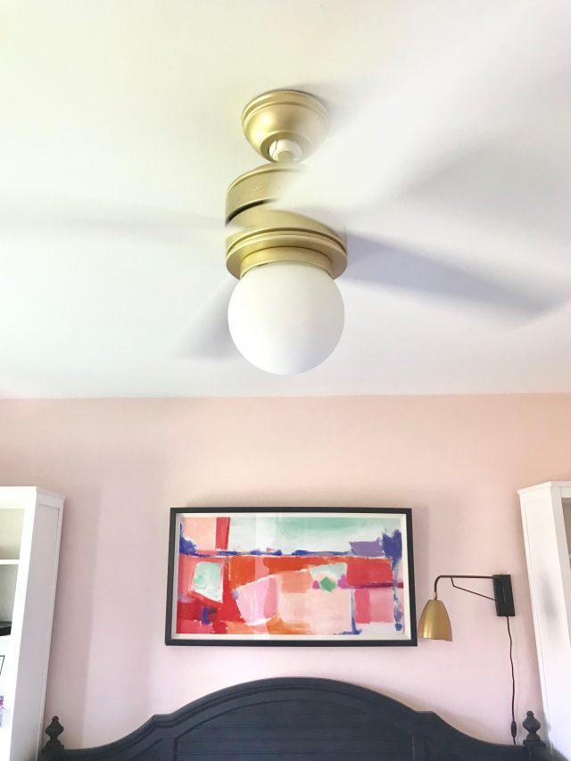 Brass white ceiling fan