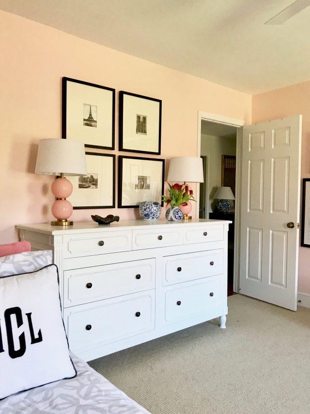 girls bedroom Arhaus dresser