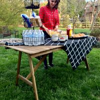 outdoor food table