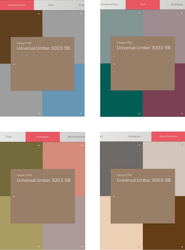 ColorReader color palettes