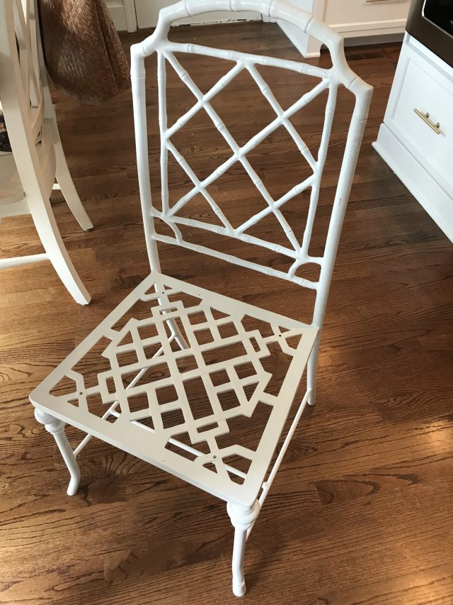 white-faux-bamboo-chair