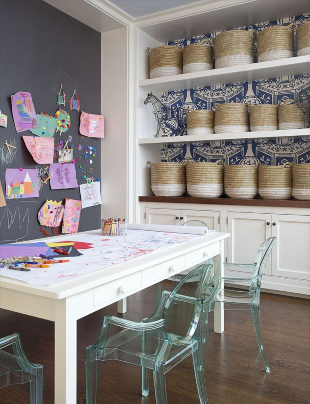 wallpaper shelves playroom e1537368180985