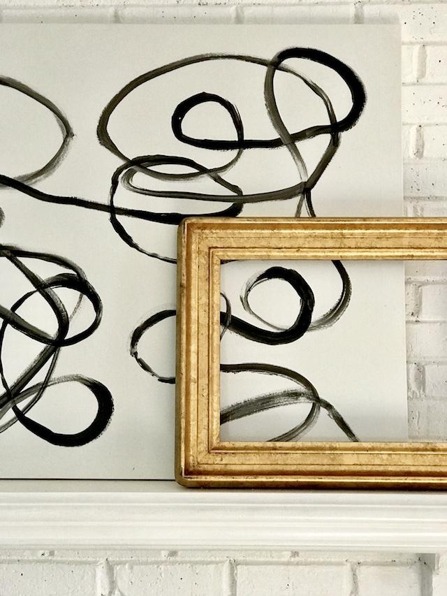 abstract art black white