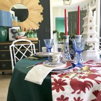 Red-Green-Tablescape-eBay-Holiday