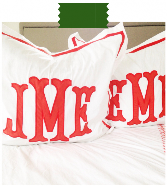 Etsy pillow shop monograms