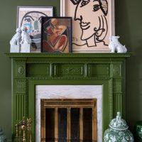 Melanie-Turner Dark Green Living Room-Simplifying the Design