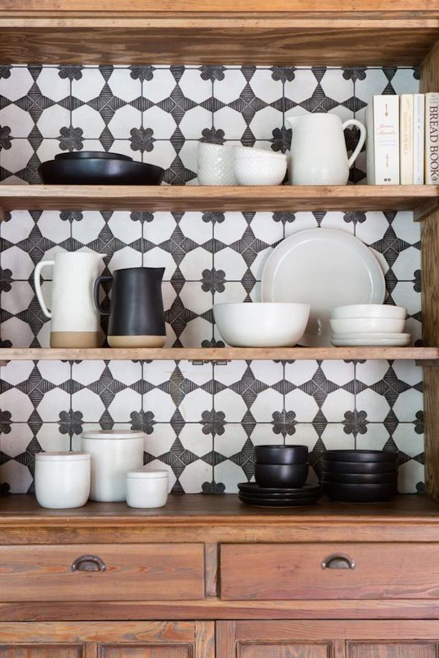 modern-tile-antique-hutch-kitchen-storage