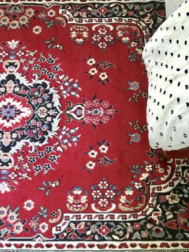 red navy oriental rug